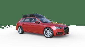 SEs Dachbox Audi A4 ausgeklappt