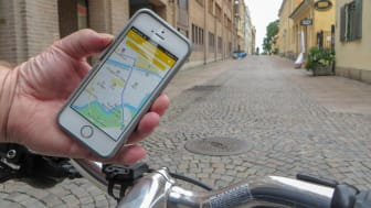 I appen Cykelstaden kan du se om det finns några hinder eller avstängningar längs din cykelväg.  Bild: Trafikkontoret Göteborgs Stad