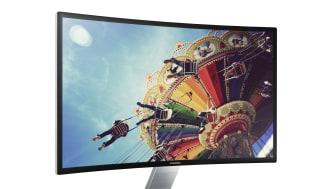 Samsung esitteli kaarevan tietokonenäytön