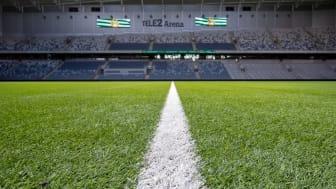 Blåljusmatchen på Tele2 Arena. Fastighetsbolag och fotbollsklubb bygger broar mellan blåljuspersonal och ungdomar. Foto: Hammarby Fotboll.