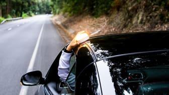 Lysande varningslampa till bilen.