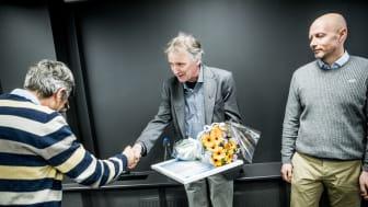 Steinar Muri fikk nylig Vannprisen 2019 i Ingeniørenes hus i Oslo.