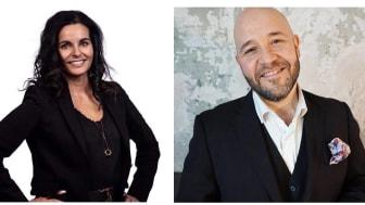 Mariam Al-Zamami VD Nordisk Kompetens och Peter Paunovic VD Yobber