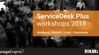 ServiceDesk Plus workshops 2018 - Stockholm