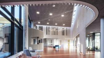 The lobby at Vejle Psychiatric Hospital