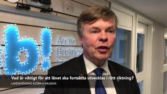 Intervju med vår landshövding Björn O. Nilsson om innovationskraften i Norrbotten.