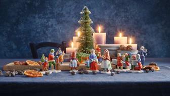 Feine Porzellanfiguren runden die Hutschenreuther Weihnachtskollektion ab.