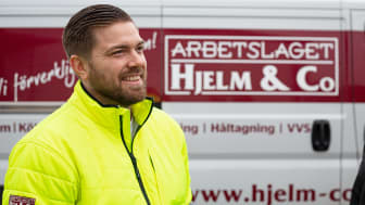 Henrik Ahlbin, projektchef på Arbetslaget Hjelm & Co. Foto: Karolina Rosenqvist.