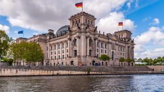 Berlin: Riksdagsbygning, sete for det tyske parlamentet