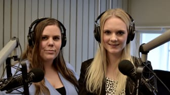 Linnéa Bohlin och Amanda Karlsson som du hör i den populära podcasten Mordpodden