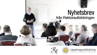 Bilden visar deltagare och föreläsare i en utbildning hos Rektorsutbildningen vid Karlstads universitet.