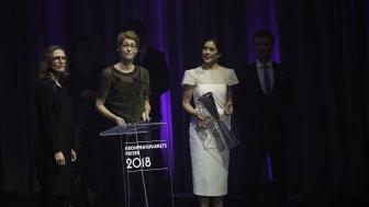 Foreningen Grønlandske Børn modtog Kronprinsparrets Sociale Pris 2018. Prisen blev modtaget af generalsekretær Puk Draiby og bestyrelsesmedlem Heidi Lindholm.