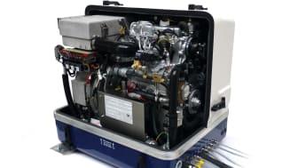 Hi-res image - Fischer Panda UK - Fischer Panda AGT 13kW, 48-volt generator helps charge the battery bank on barge Sacred