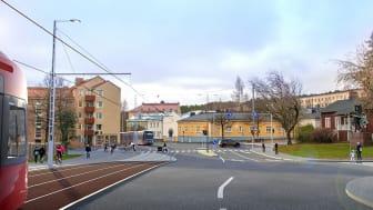 Havainnekuva Sepänkadulta. Kuva: Tampereen kaupunki