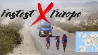 Nu går startskottet för Måns Möllers världsrekordförsök, snabbast på cykel genom Europa