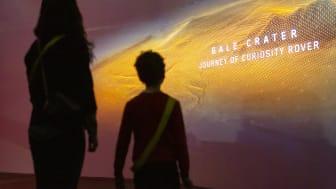 Upplev ljuset, sandstormarna, boendet och till och med lukten av Mars på Tekniska museet. Foto: Anna Gerdén
