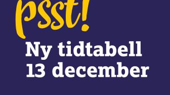 13 december – ny tidtabell på Skånetrafiken