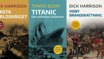 Historia för alla! Nya titlar i Historiska Medias populära bokserier i kortformat