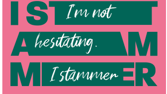 Example of the British Stammering Association's Stamma campaign