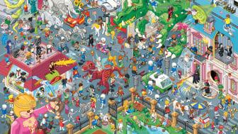 Neues PLAYMOBIL-Wimmelbild vom Berliner Illustrator Christoph Hoppenbrock