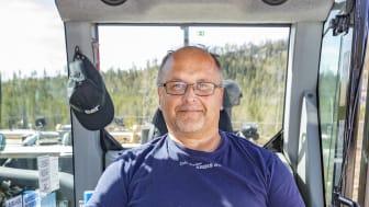 Örjan Nordin, grävmaskinist på EAG Entreprenad