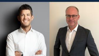 Fredrik Backman, VD Ludvig & Co, tillsammans med Peter Calderon som har rekryterats som ny Affärsområdeschef för Fastighetsförmedlingen.