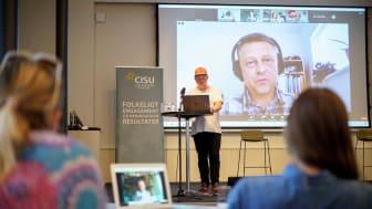 Virtuel paneldebat med fire medlemsorganisationer til den online markering af CISUs 25-års jubilæum. Foto: Anette Sønderby Madsen