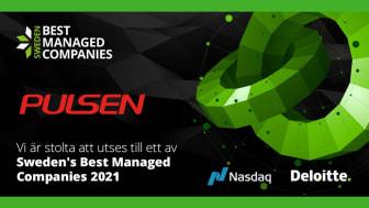 Pulsen tar idag emot utmärkelsen Sweden's Best Managed Company.