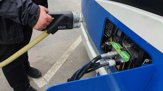 Svealandstrafiken blir först ut i Västerås med depåladdning för elektrifierade tunga fordon. Foto: Svealandstrafiken