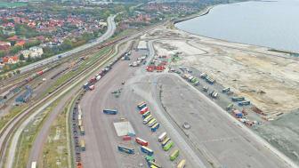 Intermodal terminal i Trelleborgs Hamn