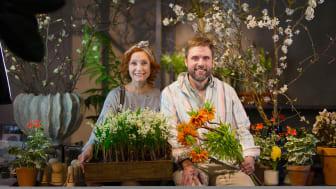 Trädgårdsmästaren Linda Schilén och floristen Johan Munter leder Trädgårdsmorgon.