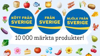Idag när den frivilliga ursprungsmärkningen Från Sverige fyller 4 år använder nära 190 företag märket på över 10 000 godkända råvaror, livsmedel och växter i butiker och på restauranger.