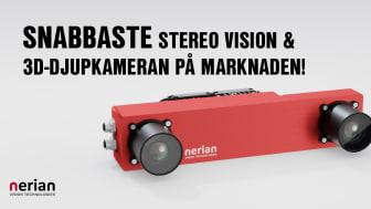 Med Scarlet lanserar Nerian Vision vad som för närvarande är den snabbaste stereo vision och 3D-djupkameran på marknaden - dessutom med mycket hög bildupplösning.