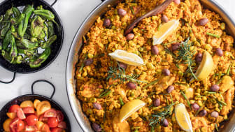 Bluegaz mest populära paellarecept; Paella Valenciana