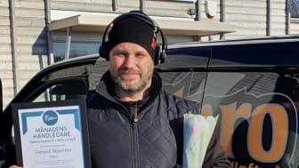 Daniel Nyström fick den första utmärkelsen till Månadens handledare, som delas ut av Yrkesgymnasiet i Skellefteå.