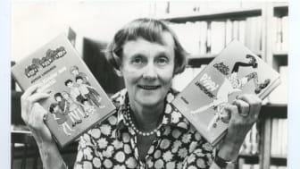 Astrid Lindgren med Pippi och Bullerbyn på tyska
