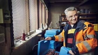Sameer Alassadi på sin praktik under pilotprojektet. Foto: Anna-Lena Lundqvist