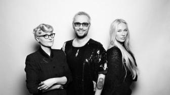 Bea Szenfeld, Fredrik Robertsson och Isabel Adrian