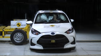 The Toyota Yaris performed well in Euro NCAP's new far-side impact test