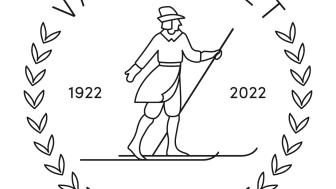 Vasaloppets 100-årslogotype redaktionell användning