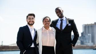 Årets Kompassrosstipendiater i ett soligt Kalmar under Seminariet Ungt Ledarskap