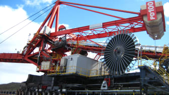 Cable reel super-power: the winning entry of our photography competition #cranes #engineering #materialshandling