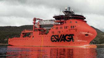 'Esvagt Njord' på prøvesejlads i Sognefjorden, Norge