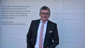 """Marcus Burmeister, Vertriebsleiter Deutschland bei Fraikin: """"Wir wollen in Deutschland ein starkes Wachstum generieren. Partner wie idem telematics unterstützen uns dabei."""""""