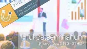 Frukostseminarium på GT30 i Sthlm den 9 november 2017. Ämne: Pull-marketing och SEO