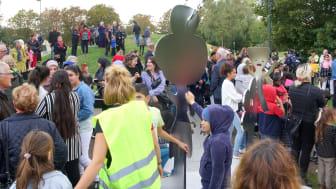 Barnens skulpturpark - Hemligheten (på invigningsdagen)