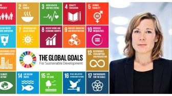 """""""SPP Global Solutions har haft en avkastning på drygt 137,48 start för sex år sedan och har varit en framgångssaga för spararna"""", säger Åsa Wallenberg, vd SPP Fonder."""