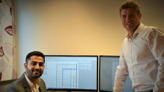 Rawand Mohamed er avdelingsleder for Optimera Tekniske tjenester på Hamar som ligger innunder Optimera Byggsystemer som Ståle Sagstuen (t.h.) leder.