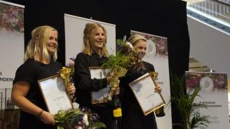Marinette Månsson tog hem en knivskarpt jämn vinst i seniorklassen.  2:a Lina Supsticks, 3:a Elin Jacobsson