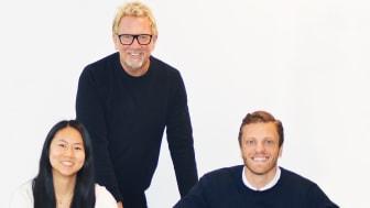 Sara Rydell ny i JobAgent´s styrelse här tillsammans med grundarna Mats Wernheim och Björn Elowson